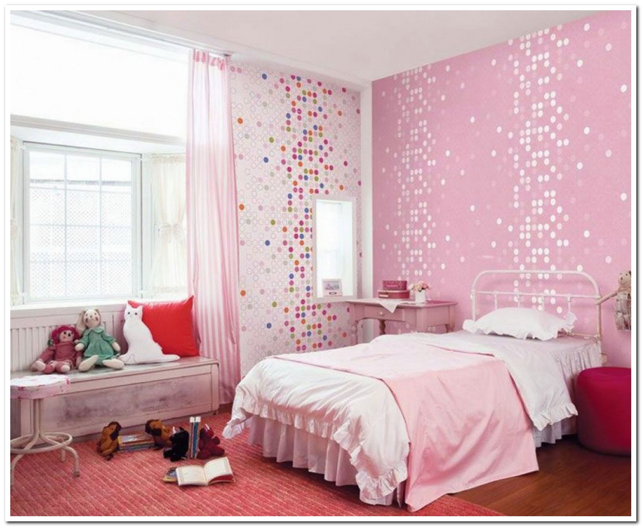 Image of: Pink Unique Kids Beds