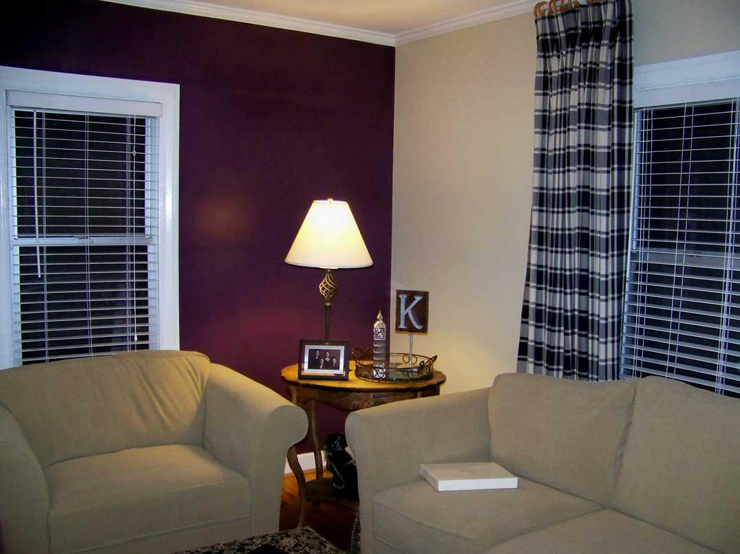 Image of: Purple Paint Colors For Living Room
