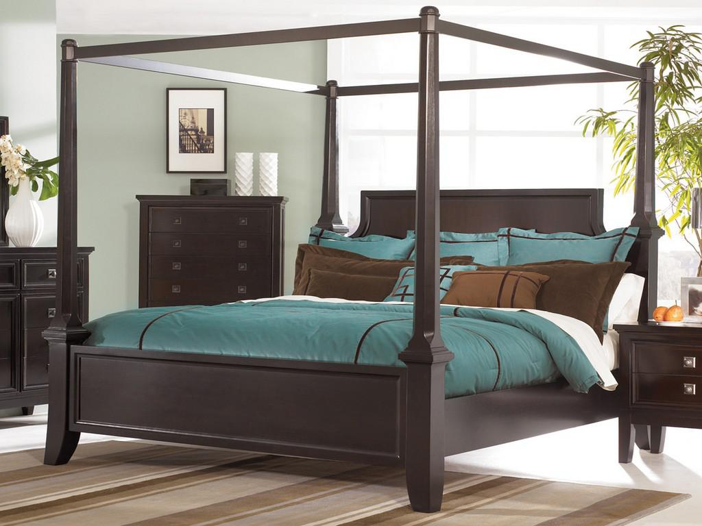 Image of: Queen Size Canopy Bedroom Set