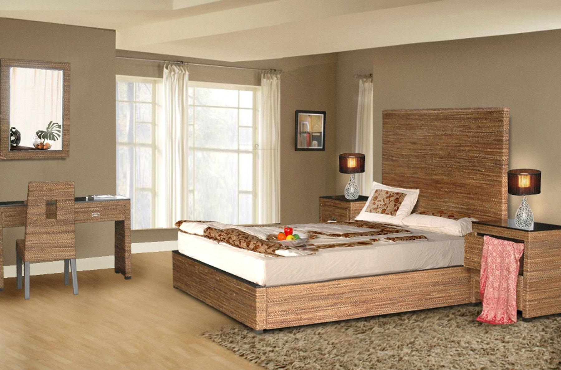 Image of: Rattan Bedroom Furniture