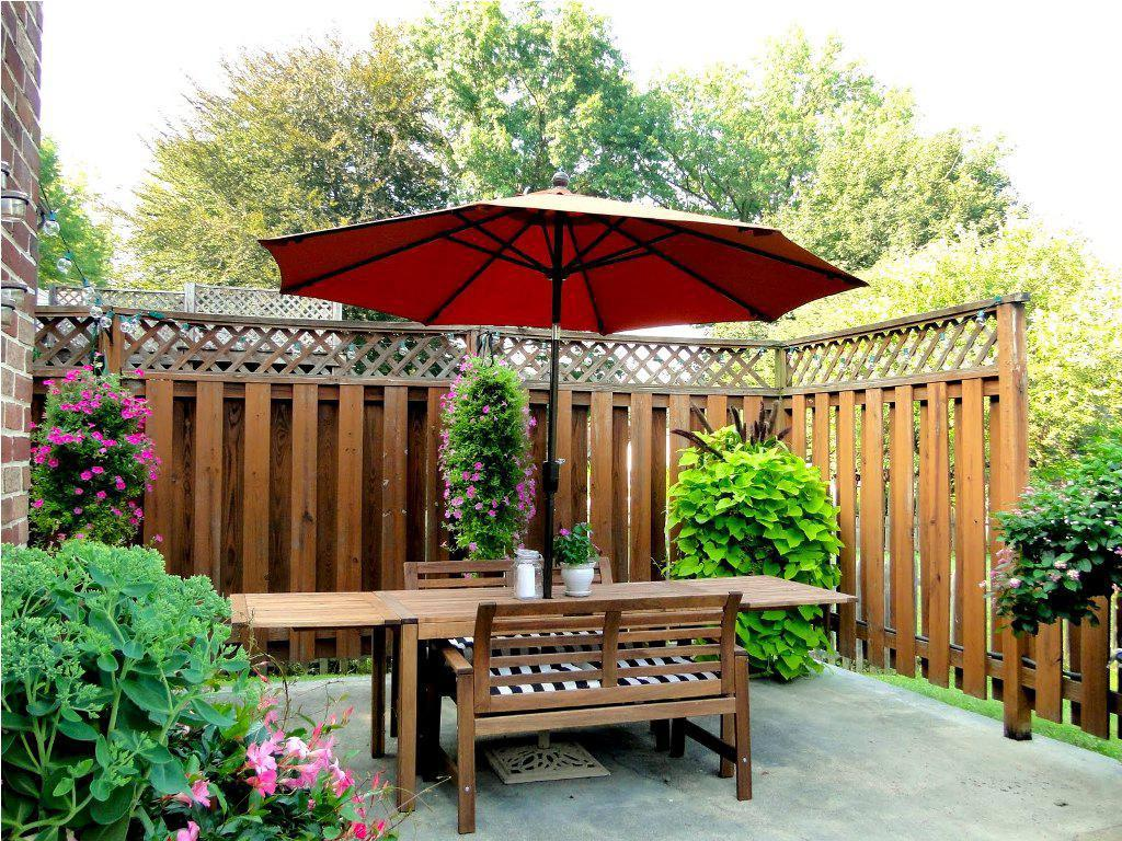 Image of: Rectangular Patio Table Umbrella