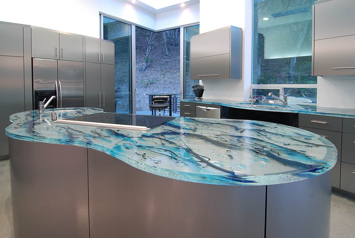 Image of: Recycled Glass Countertops Price