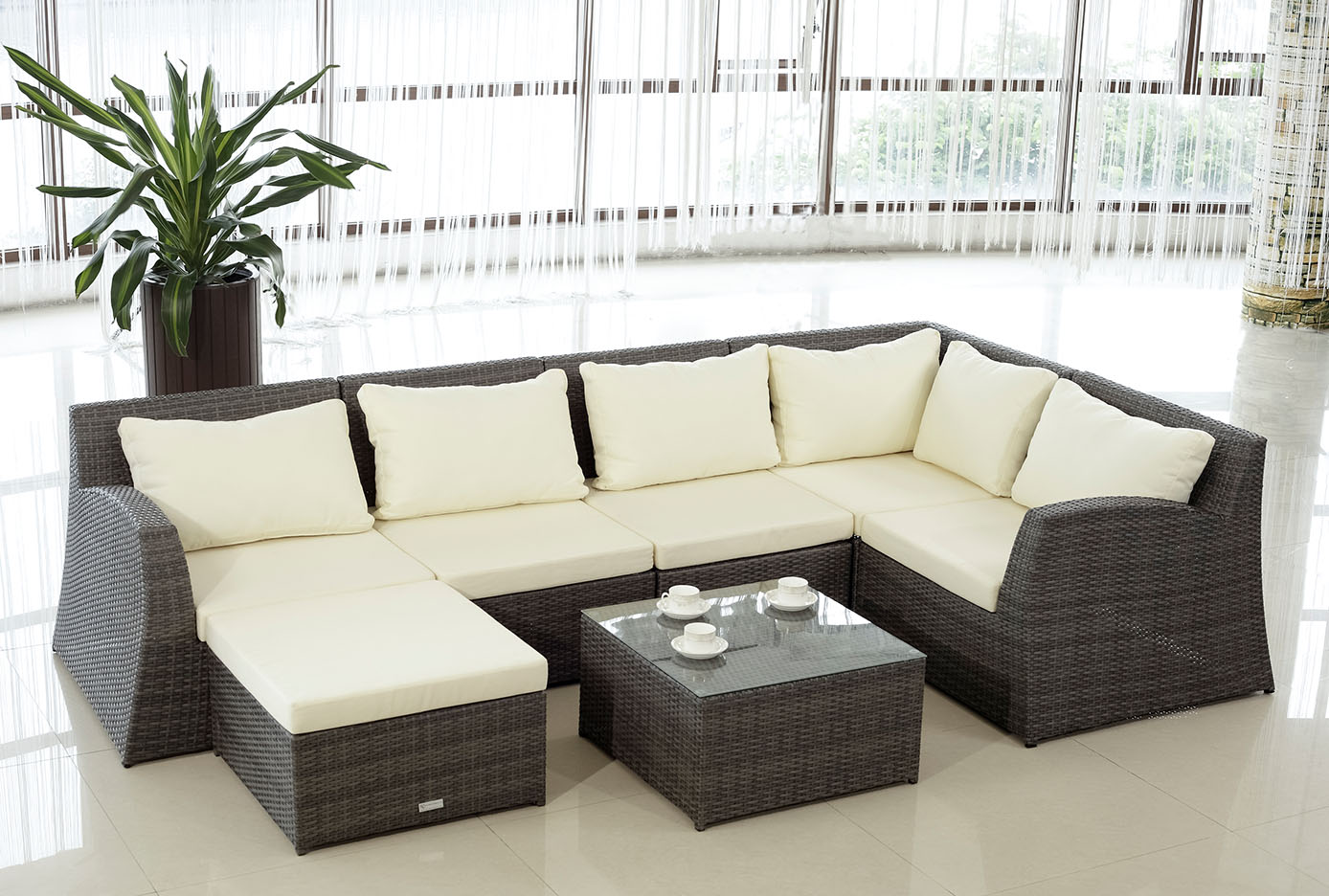 Image of: Replacement Cushions For Rattan Furniture