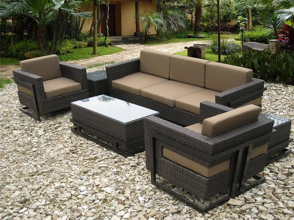 Image of: Resin Wicker Patio Furniture Target