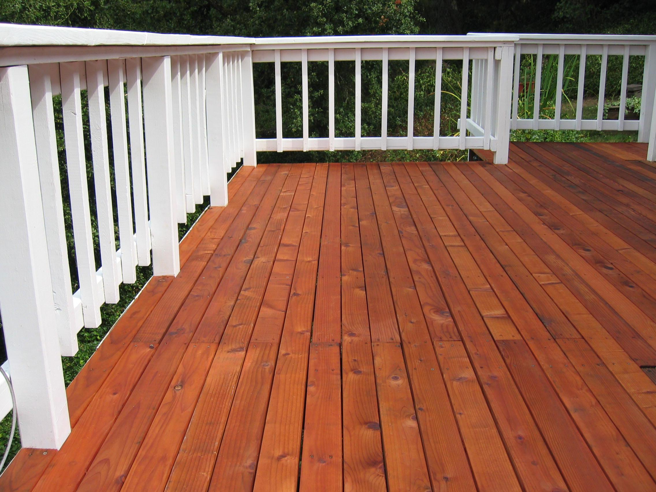 Image of: Sealing Mahogany Deck