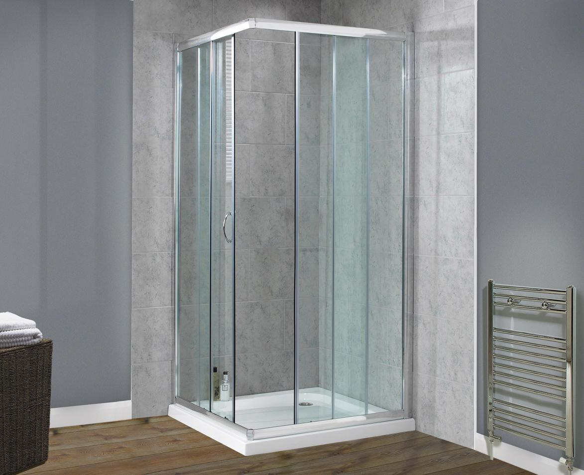 Image of: Shower Surrounds Lowes