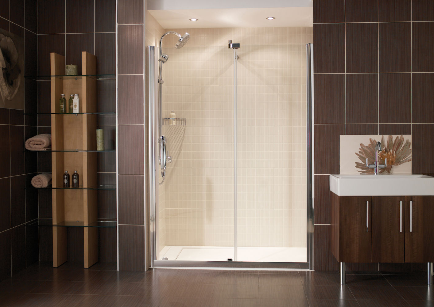 Image of: Sliding Glass Shower Doors Lowes
