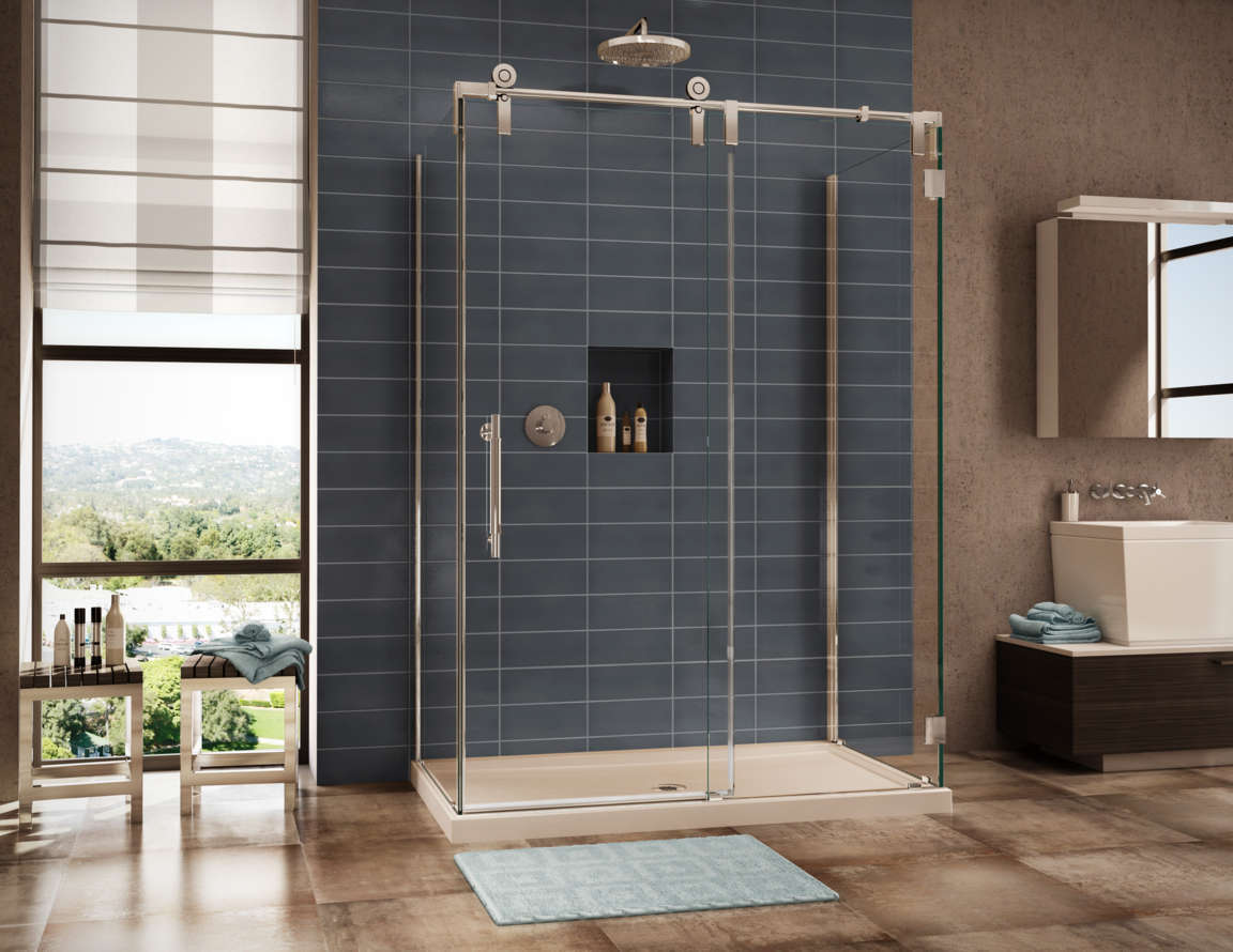 Image of: Sliding Glass Shower Doors Repair