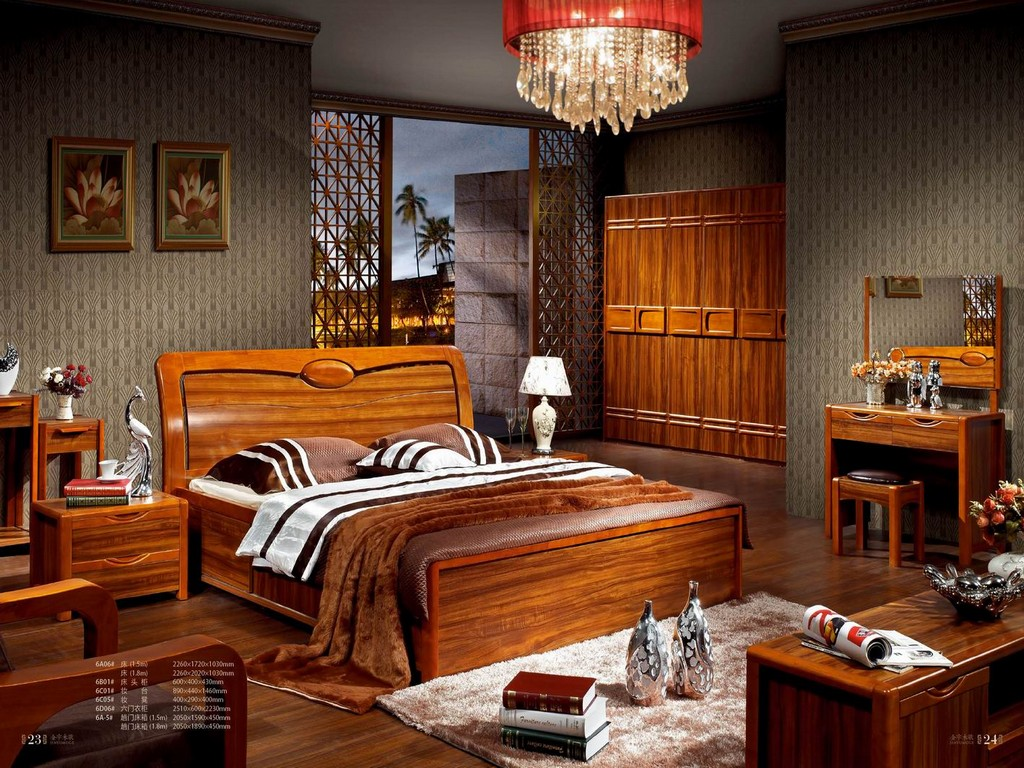 Image of: Solid Wood Beds