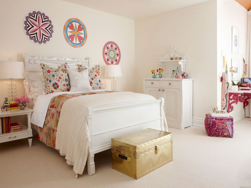 Image of: Teenage Girl Bedroom Colour Schemes