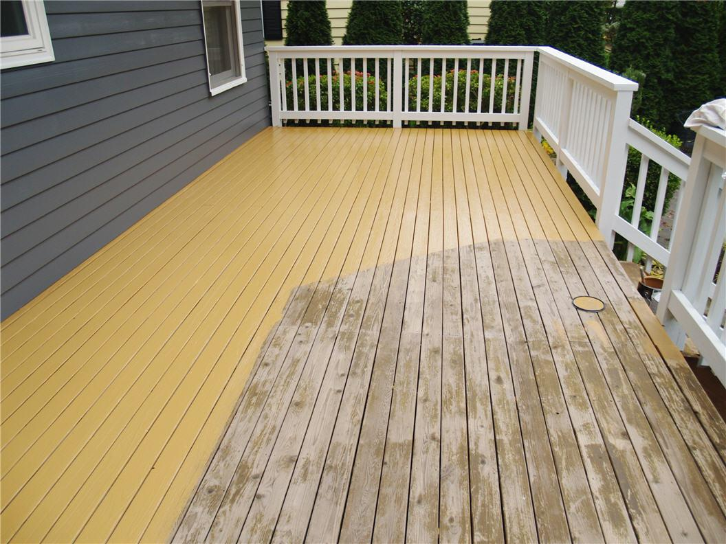 Image of: Tips On Staining A Wood Deck