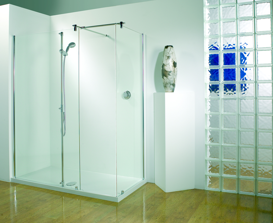 Image of: Modern Glass Walk In Shower Design