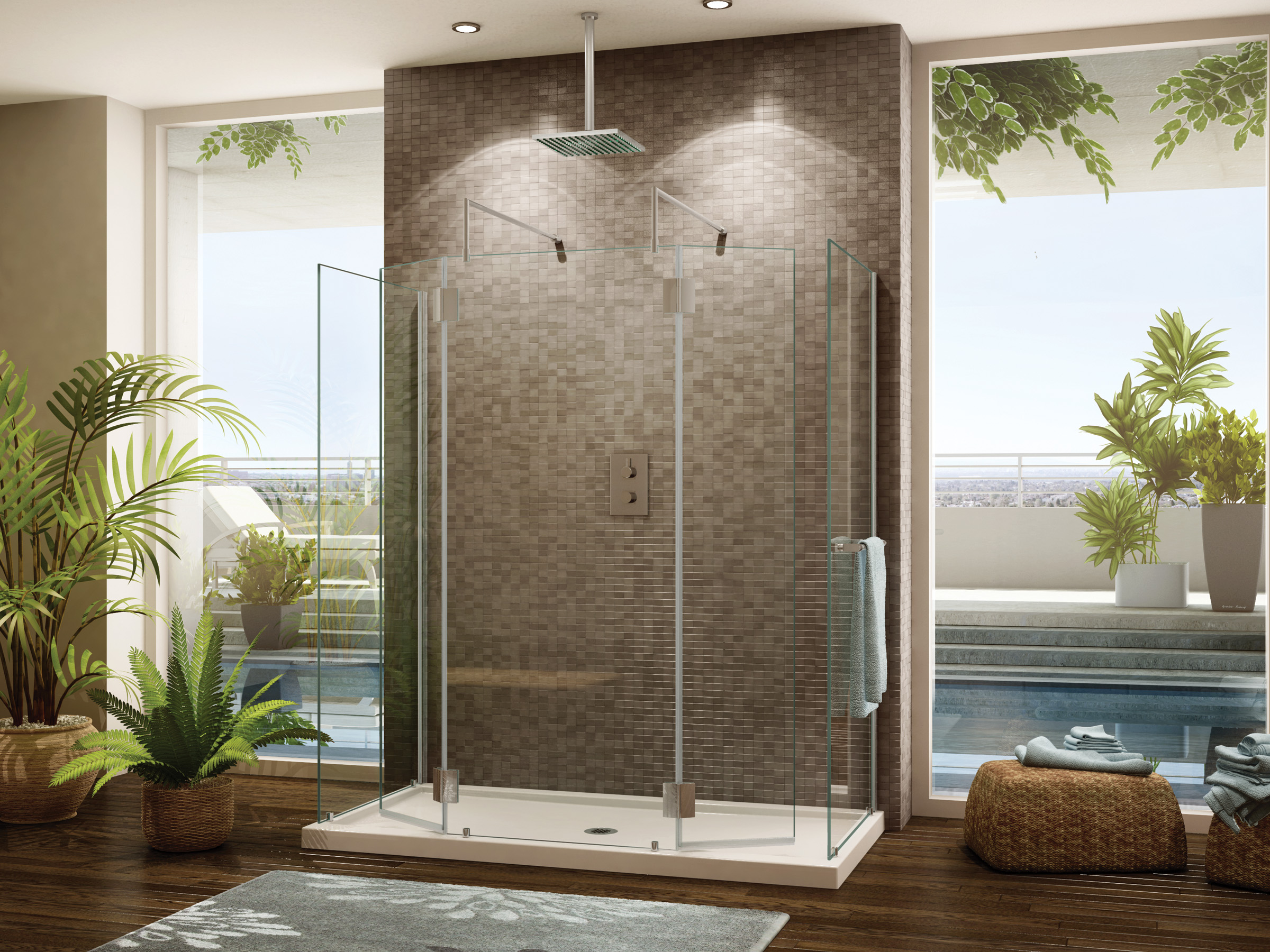 Image of: Walk In Shower Designs With Bench