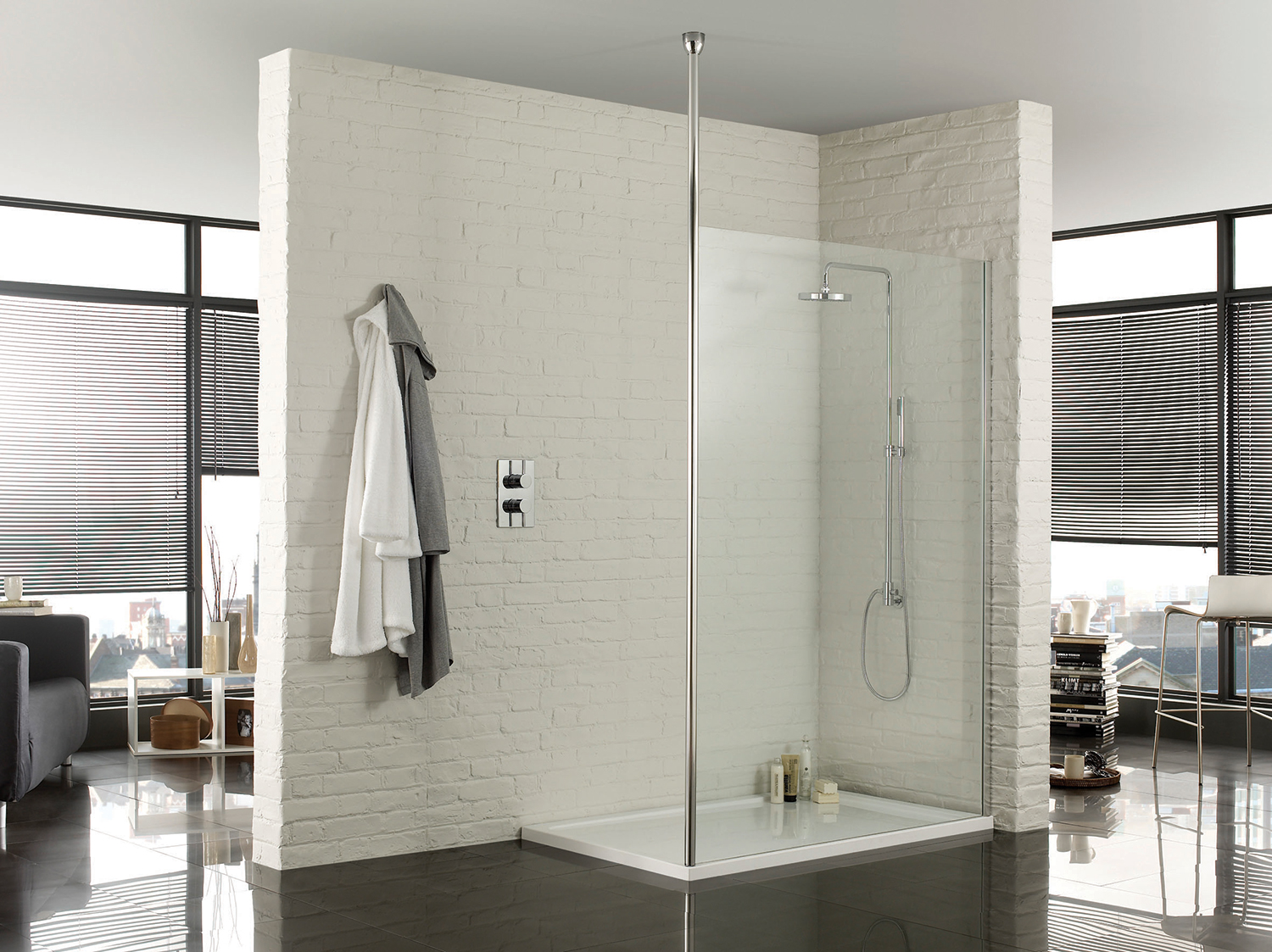 Image of: Walk In Shower Designs