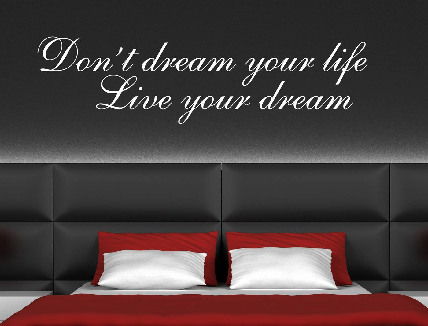 Image of: Wall Stickers For Bedrooms Quotes