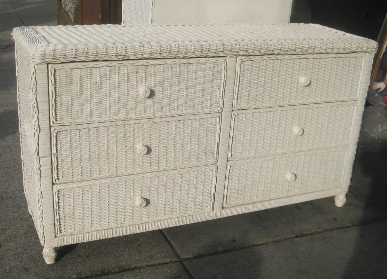 Image of: Wicker Dresser Furniture