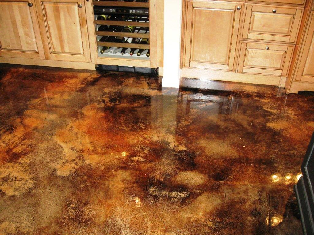 Image of: Acid Stained Concrete Floor