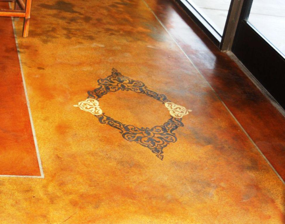 Image of: Acid Stained Concrete Floors