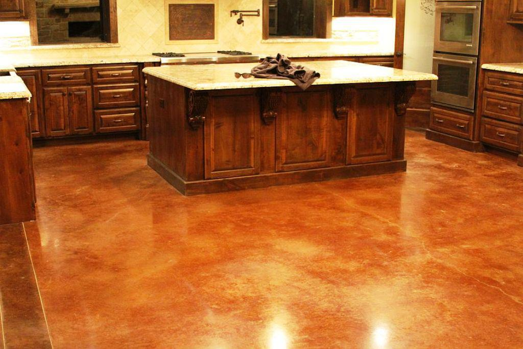 Image of: Basic Steps to Staining Concrete Floors
