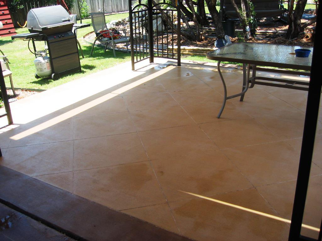Image of: Behr Concrete Stain Application