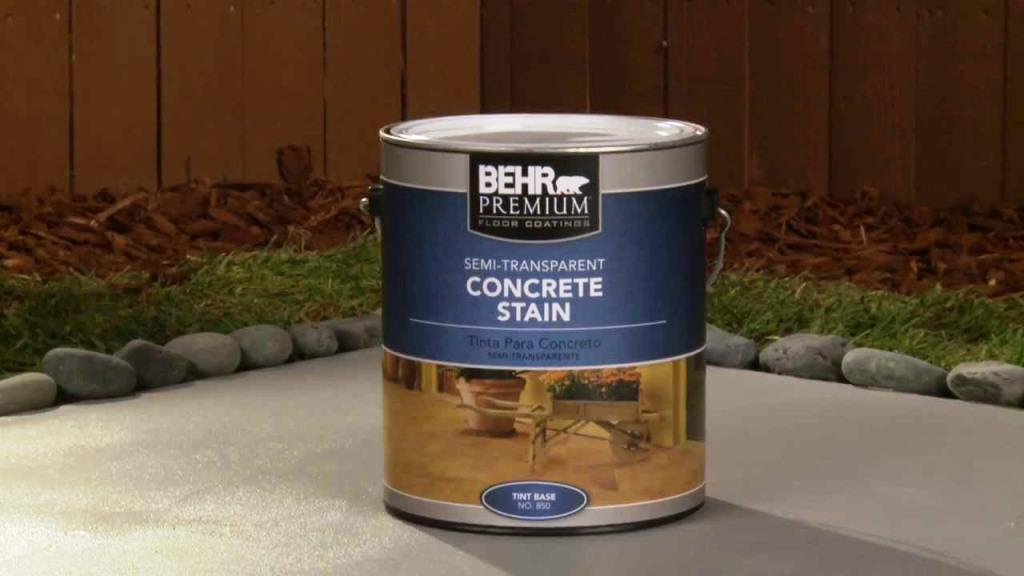Image of: Behr Concrete Stain Kit