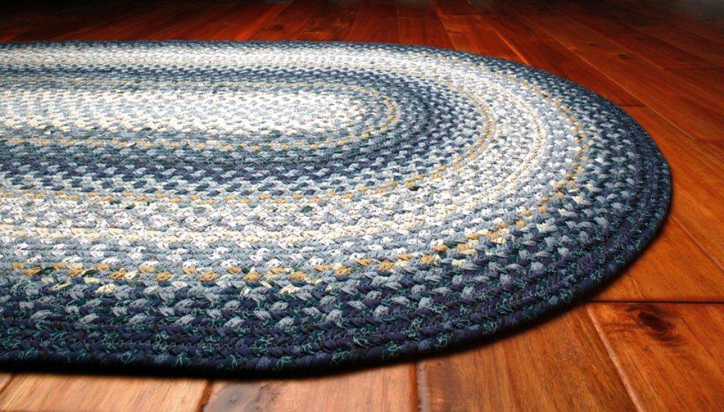Image of: Black Braided Rugs