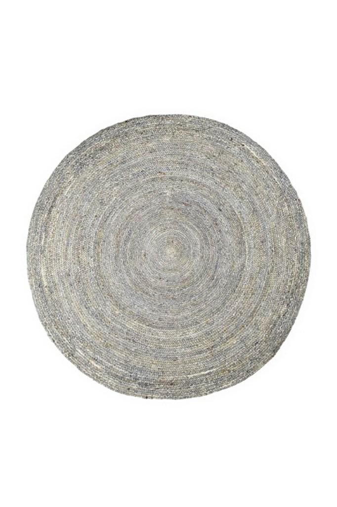 Image of: Bleached Jute Rug Round
