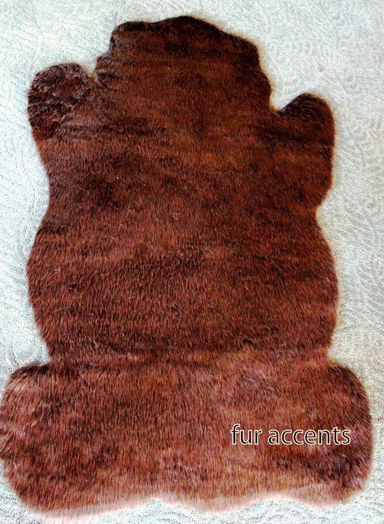 Image of: Brown Faux Fur Rug