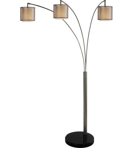 Image of: Chrome Arc Floor Lamp