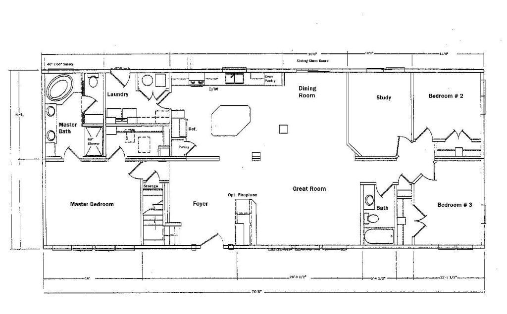 Image of: Clayton Manufactured Homes Floor Plans
