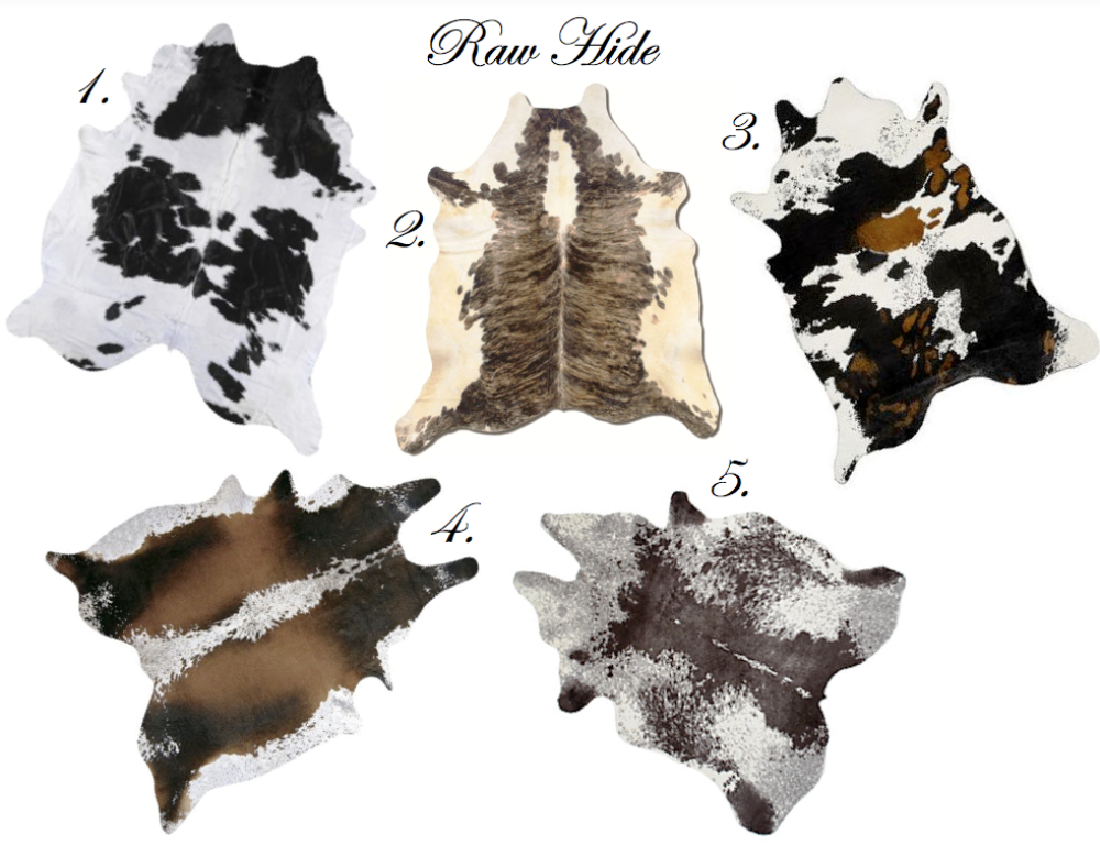 Image of: Cowhide Rugs Cheap