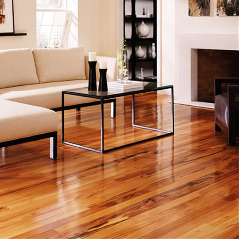 Image of: Engineered Tigerwood Flooring