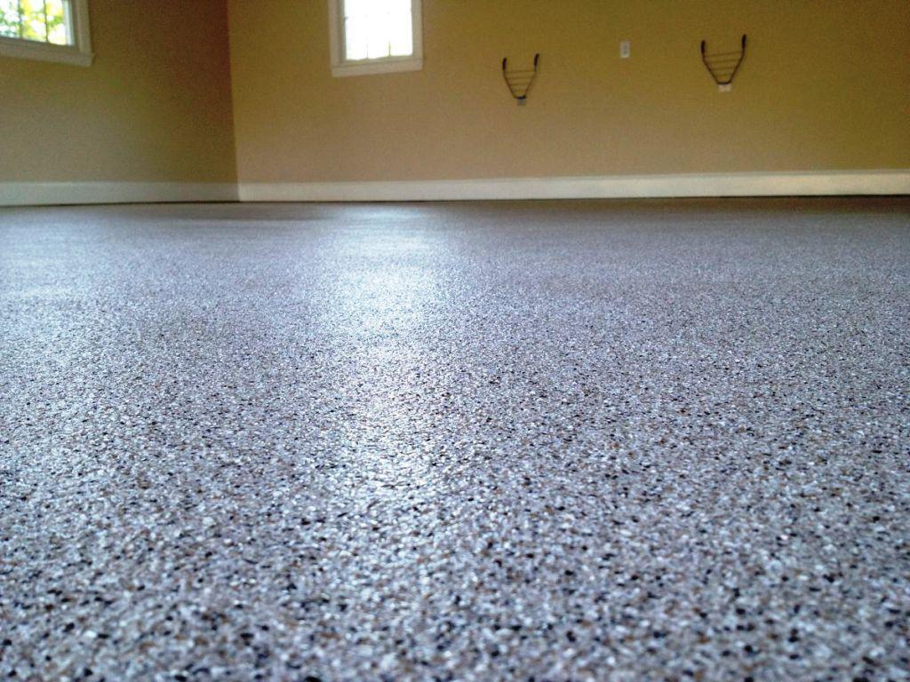 Image of: Epoxy Concrete Garage Floor
