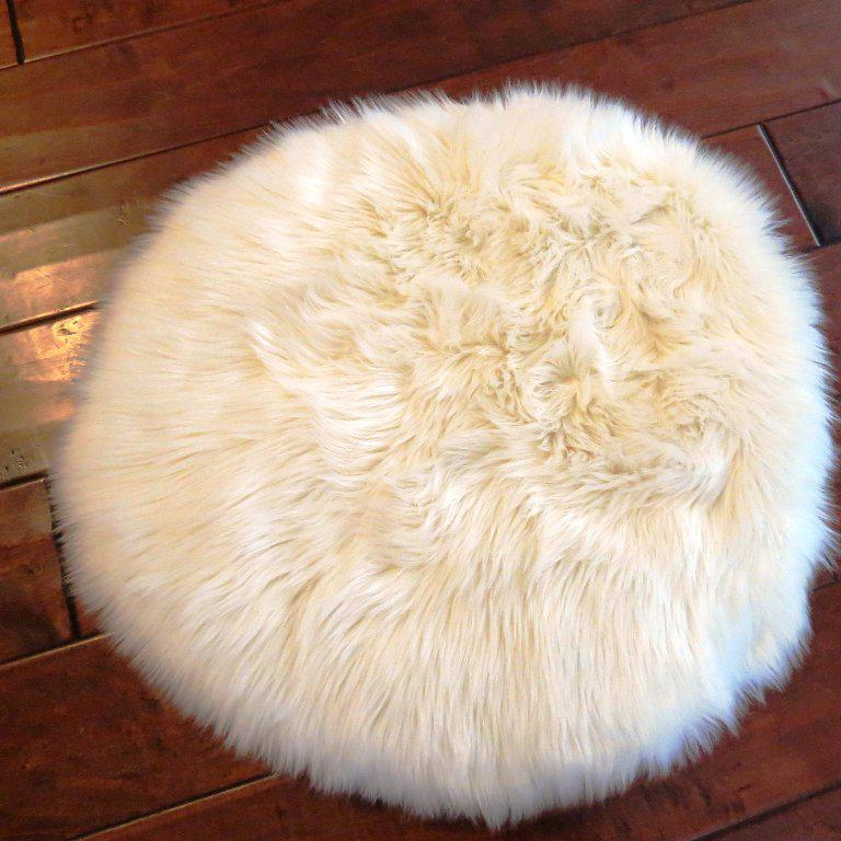 Image of: Faux Fur Rug DIY