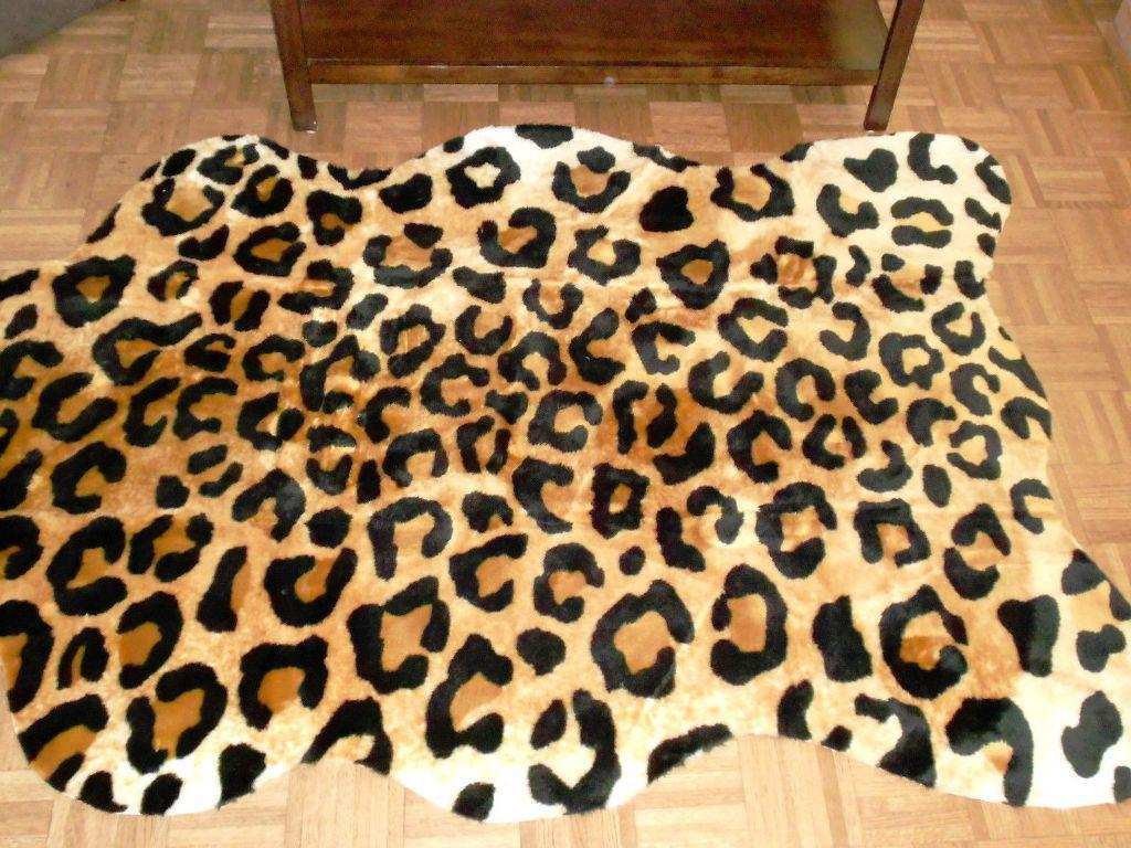 Image of: Faux Leopard Rugs
