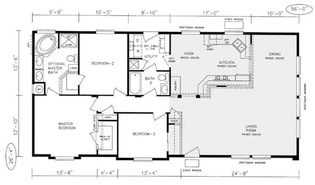 Image of: Fleetwood Manufactured Home Floor Plans
