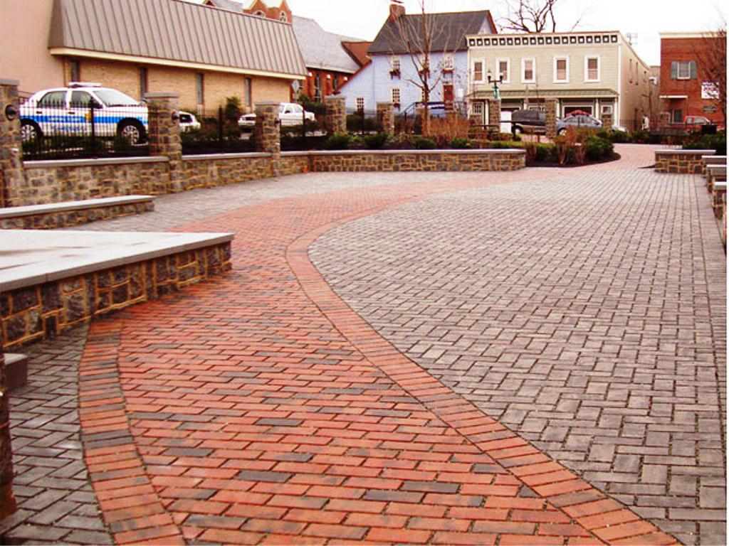 Image of: Interlocking Brick Pavers