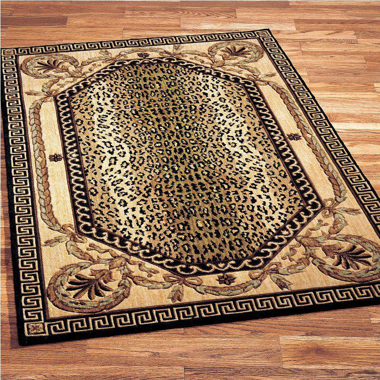Image of: Leopard Area Rug