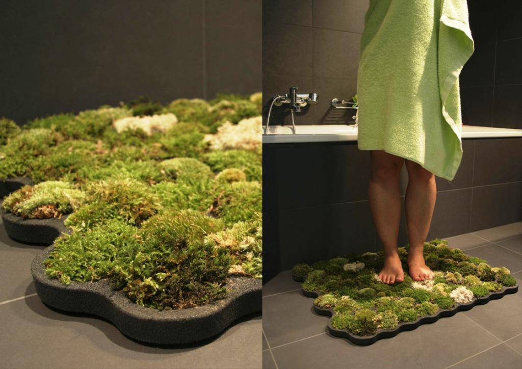 Image of: Living Bath Mat