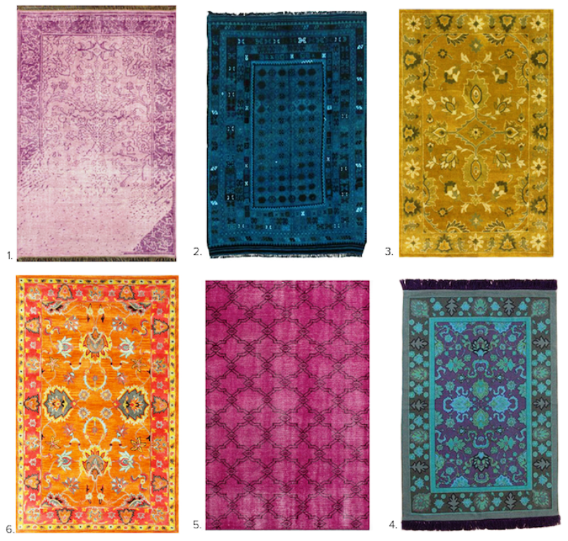 Image of: Overdyed Vintage Rugs