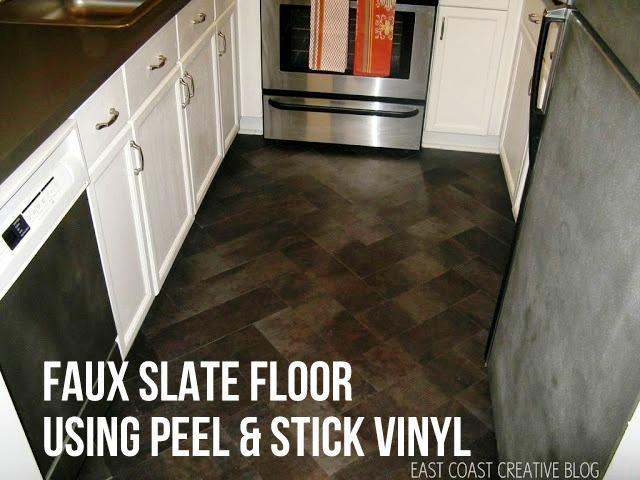 Image of: Peel and Stick Floor Tile Installation