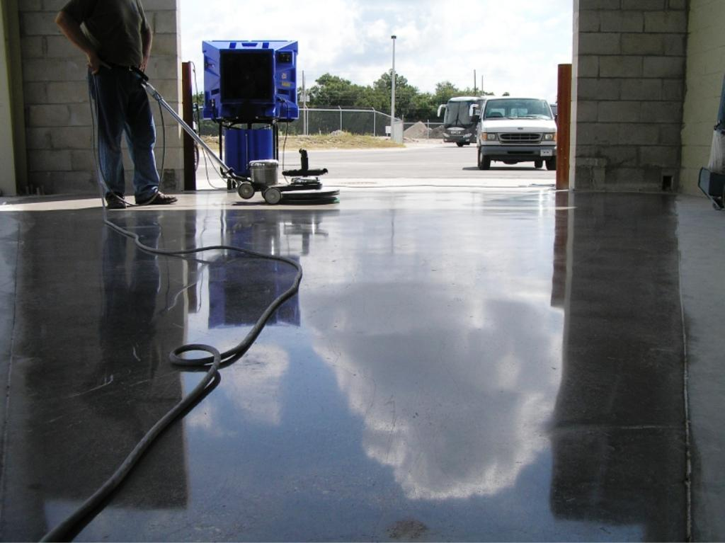 Image of: Polished Concrete Floors Problems