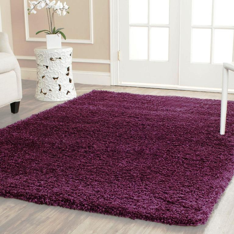 Image of: Purple Shag Rug