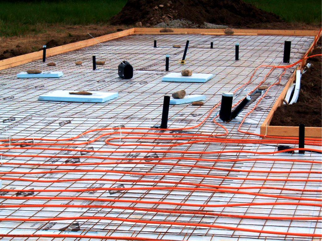 Image of: Radiant Floor Heating Concrete Slab
