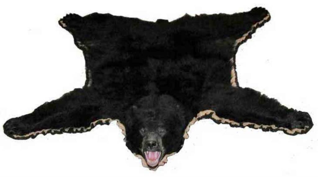 Image of: Realistic Faux Bear Skin Rug
