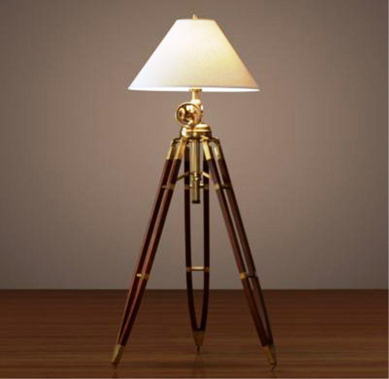 Image of: Royal Marine Tripod Floor Lamp