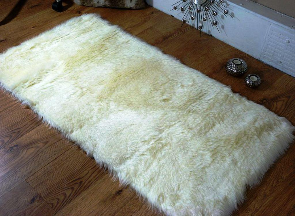 Image of: Sheepskin Rug Faux