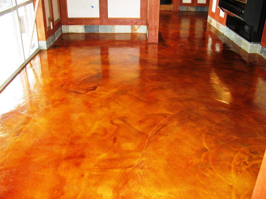 Image of: Staining Concrete Floors Indoors Yourself