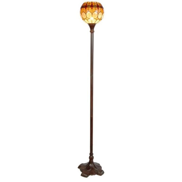 Image of: Tiffany Torchiere Floor Lamps