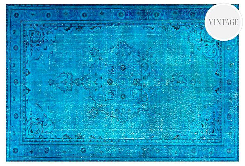 Image of: Turquoise Overdyed Rugs